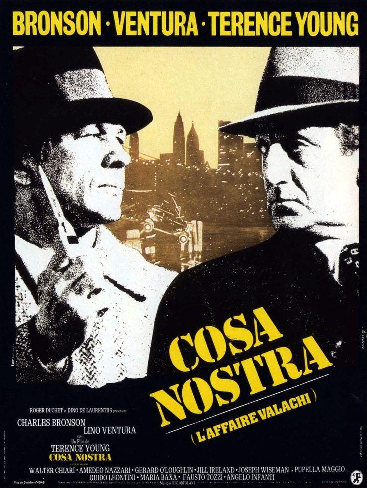 Cosa Nostra est un film policier franco-italien de Terence Young sorti le 3 novembre 1972 aux États-Unis et le 7 décembre 1972 en France. En 1962, le maffioso Valachi est interné au pénitencier d'Atlanta, en Georgie, pour une peine de quinze ans de prison. L'agent du FBI qui l'a piégé le convainc de faire tomber le capo Vito Genovese...