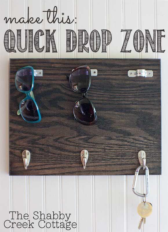 easy drop zone for sunglasses & keys