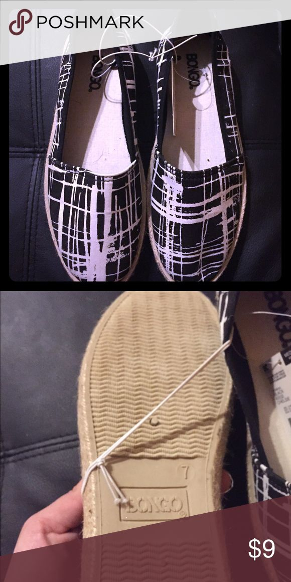 New black and white espadrilles Black and white espadrilles nwt. BONGO Shoes Espadrilles
