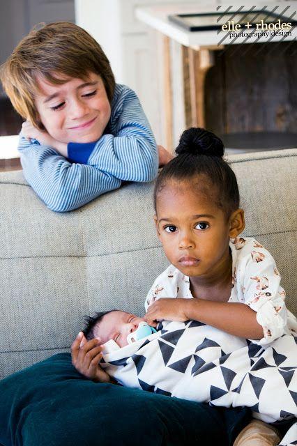 Beautifully blended siblings photography #Adoption #Biracial