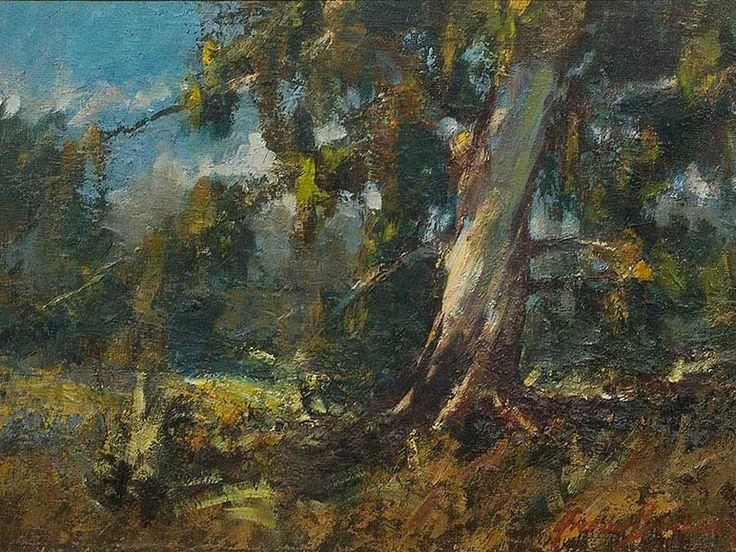 Anton Benzon (SA, born 1944) Oil, Landscape with Bluegum Tree