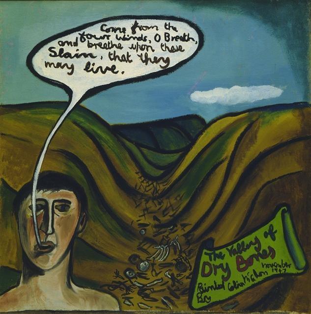 The valley of dry bones - McCahon.