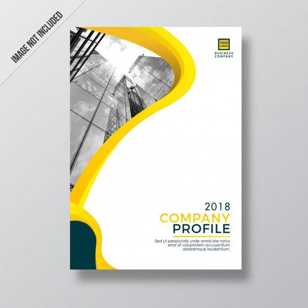 Modern Yellow Style Design Company Profile Template Desain Poster