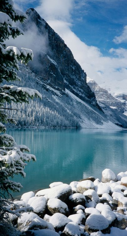 Lake Louise is a glacial lake located in Banff National Park ~ Alberta, Canada • photo: David May on Flickr