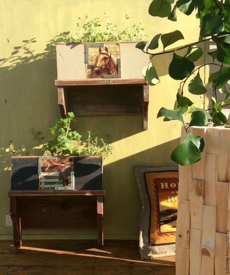 Купить Подвесная цветочница - черный, полка, цветочница, декор стен, украшение дома, подарок, лето