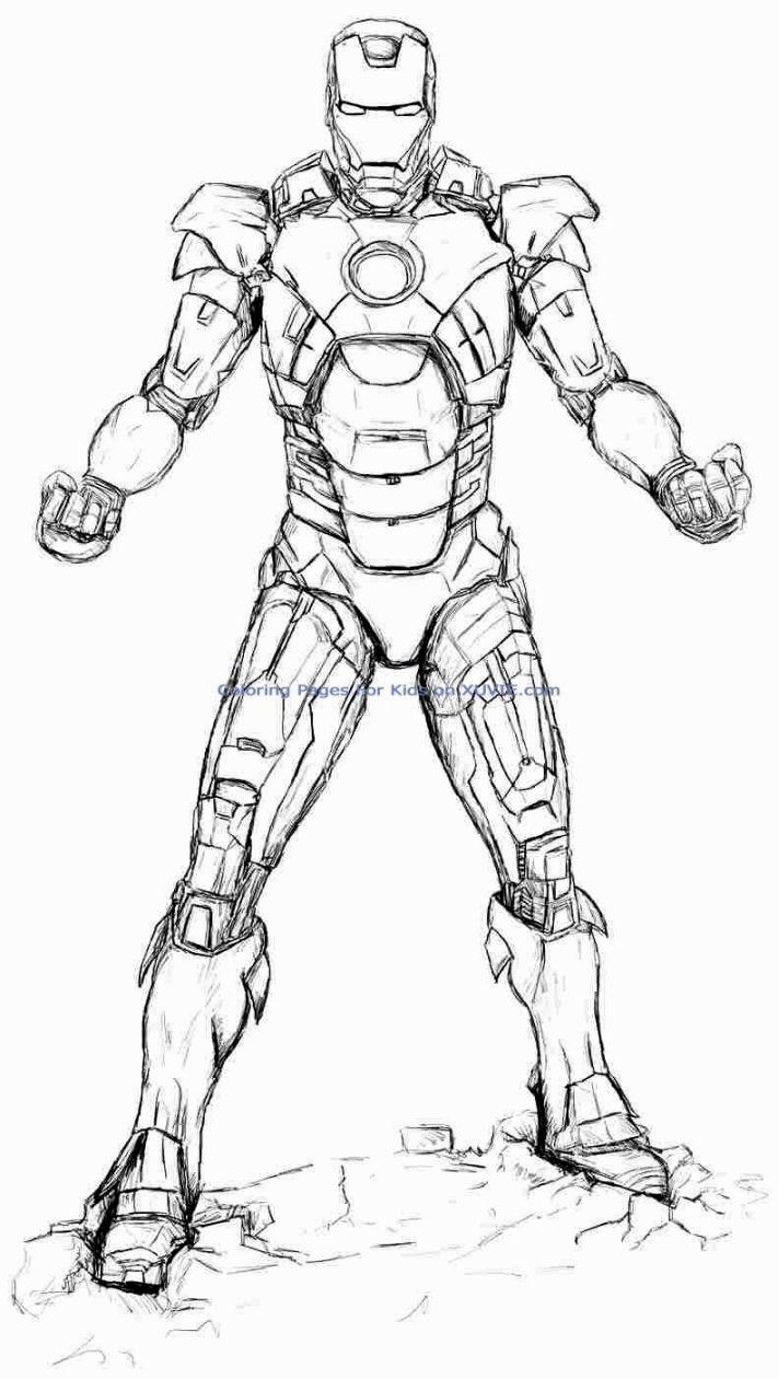 Iron Man Coloring Pages Drawing