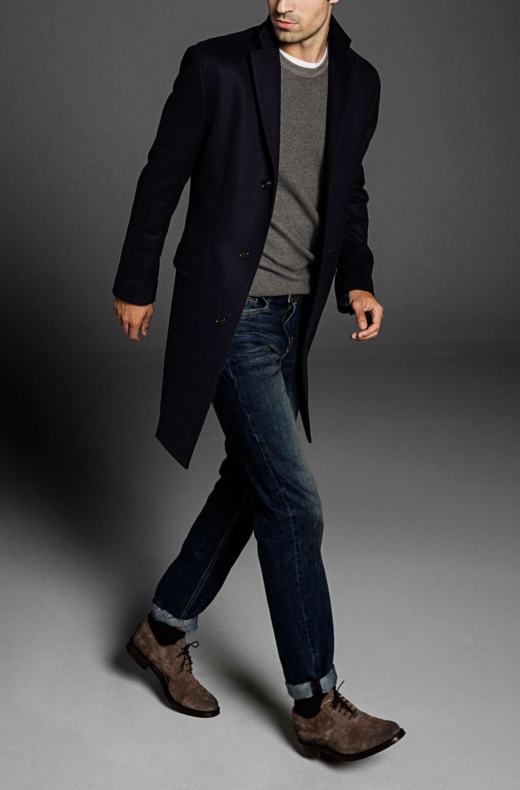 Tailored Twill Wool And Cashmere Coat By Massimo Dutti