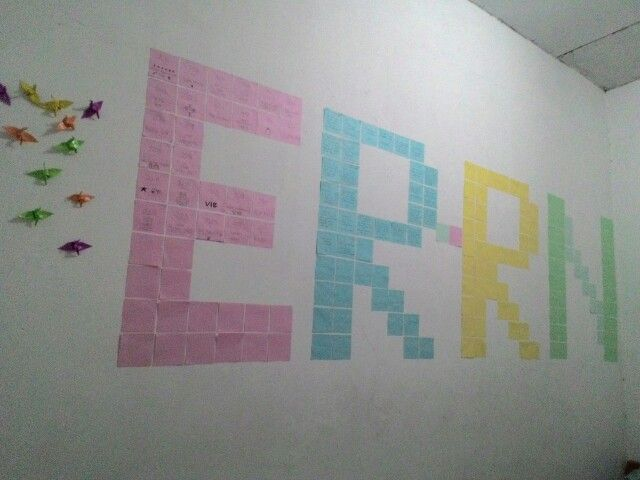 My new room decoration. Coping, recycling and dreaming! :')