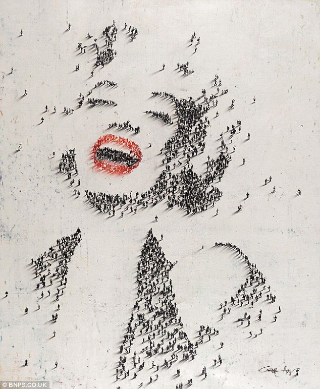 portrait of Marilyn Monroe by Atlanta-based artist Craig Alan. take a closer look