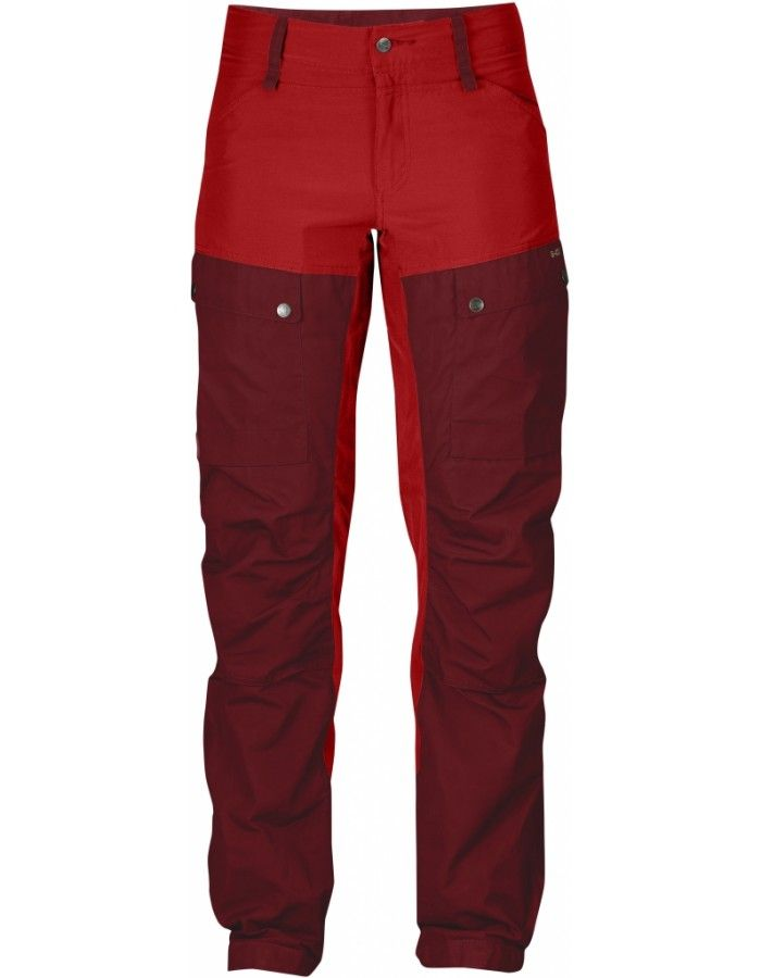 Fjellreven Keb Bukse Regular Dame - Ox Red