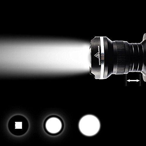 GRDE® VTT Lampe Frontale LED T6 1800 Lumens Zoomable Headlight pour Montagne Cyclisme,Lecture en Nuit,Course,Randonne,Chien Chasse de Nuit…