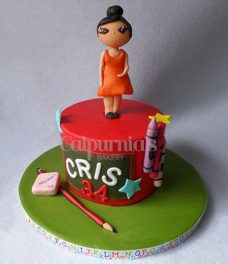 Teacher cake fondant