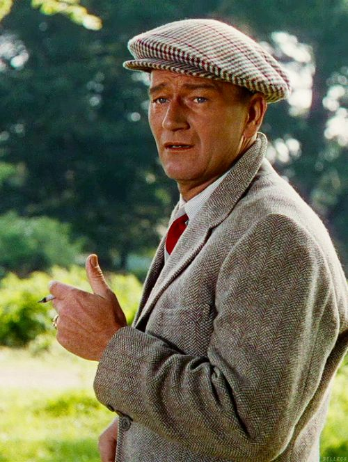 John Wayne ... I think this is from one of my very fav John Wayne movies, The Quiet Man ... also starring Maureen O'Hara ... love this movie ...