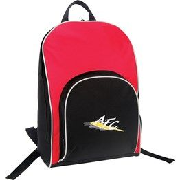 Double zippered main compartment with piping, Single zippered front pocket with piping, Webbing haul loop, Curved, padded shoulder straps. 600 Denier Nylon http://catalogue.davarni.com.au/Products/Search/Products?startRow=100&maxRows=50