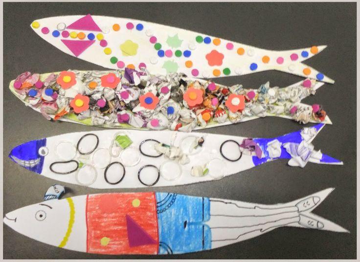 Artes Manuais - Oferta de Escola: Sardinhas