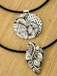 polymer clay zentangle - Google Search
