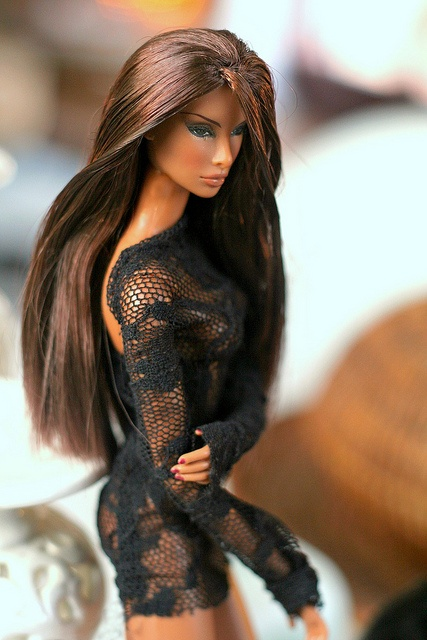 I know it's a Barbie doll, but her hair is beautiful!