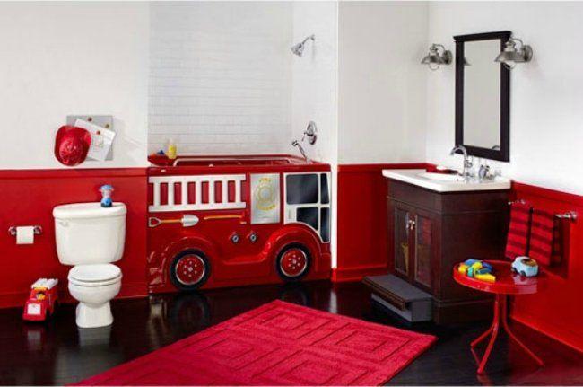 Bañera FunBath con forma de coche de bomberos