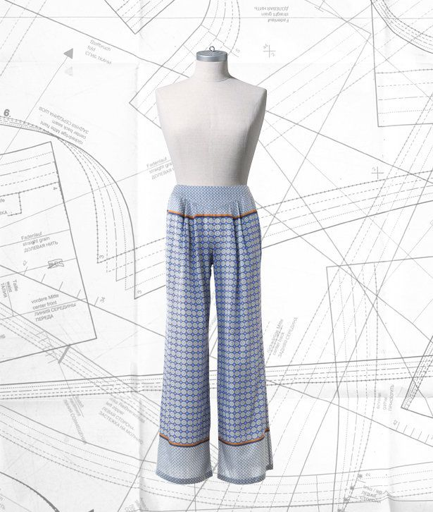 Sewing Lesson: Palazzo Pants 106C 04/2016 #burdastyle #sewing #pattern #diy #sew