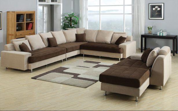 Joice Modern Two Tone Sectional Sofa Elegant Cheap Living Room