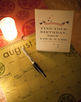 the bright life: birthday calendar guestbook.