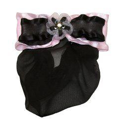 4075 Black/Pink Rhinestone Georgette Snood
