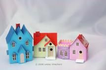 """Free Printables for an """"N""""Scale  Glitter / Coconut House Village: Traditional Glitter Houses"""