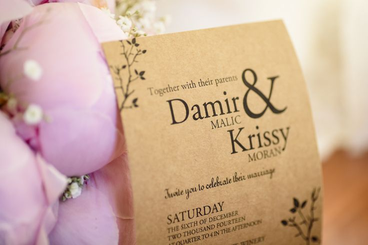 One of my fave invites, so simple & stylish