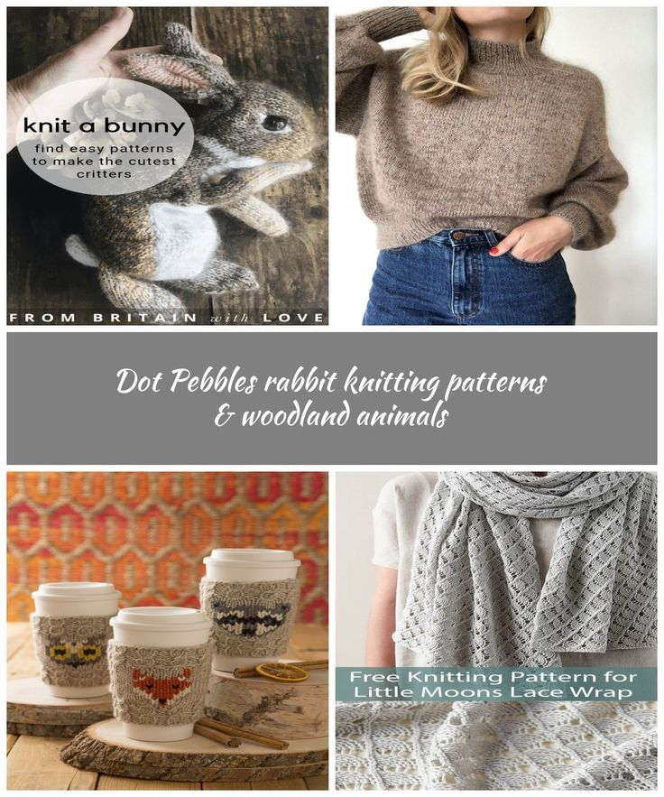love this dot pebbles rabbit knitting pattern to hand knit the cutest lifelike b…