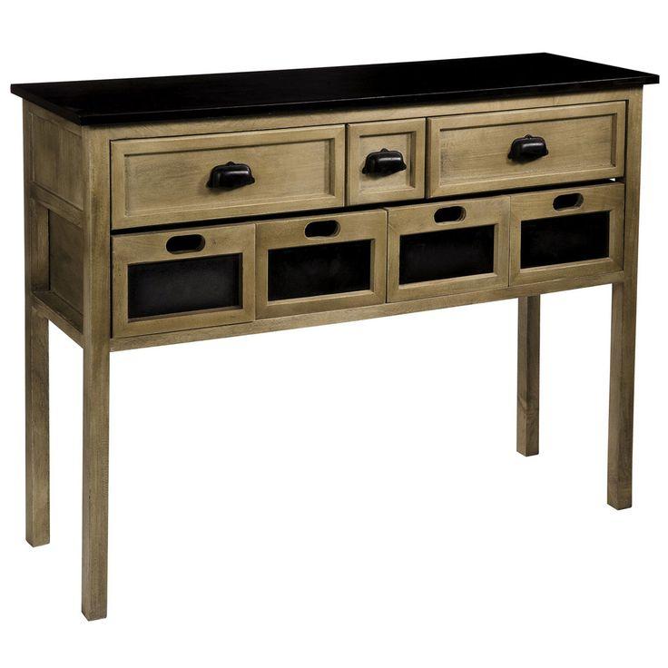 console bois pas cher maison design. Black Bedroom Furniture Sets. Home Design Ideas