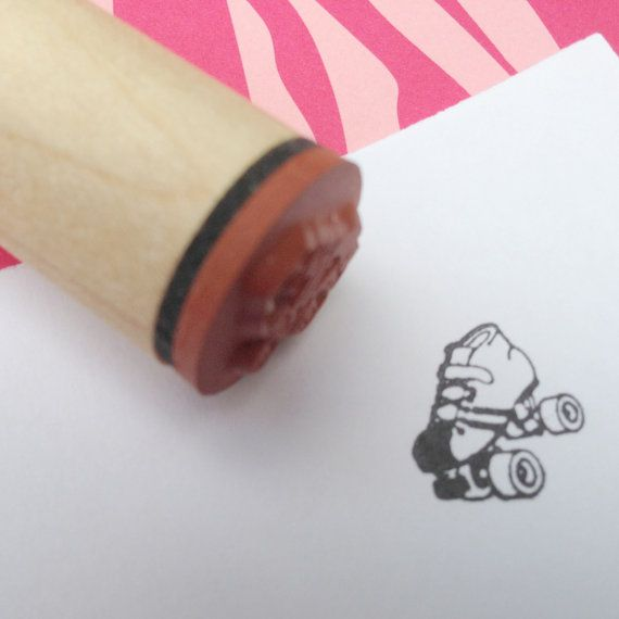 (i don't know where else to put this haha) Roller Derby Speed Skate Rubber Stamp on Etsy  $3.75