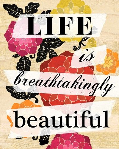 yesLife Is Beautiful, Remember This, Breathtaking Beautiful, Deep Breath, Crafts Activities, Rainbows Flower, Living, Beautiful Life, Inspiration Quotes