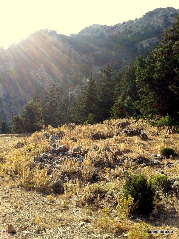 Hiking mountain DIkeos in Kos island
