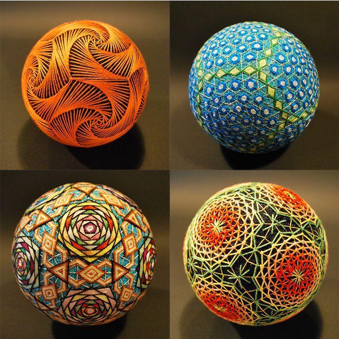 Temari, bolas hechas a mano