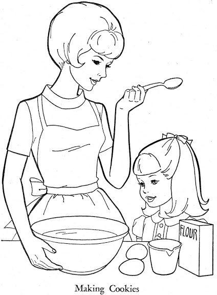 тех рисунок мама готовит на кухне яйцо