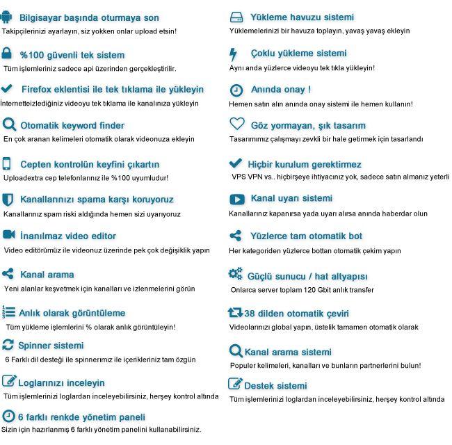 Uploadextra - Youtube Botu | Sanal Kod - Türkiye'nin Webmaster Marketi.