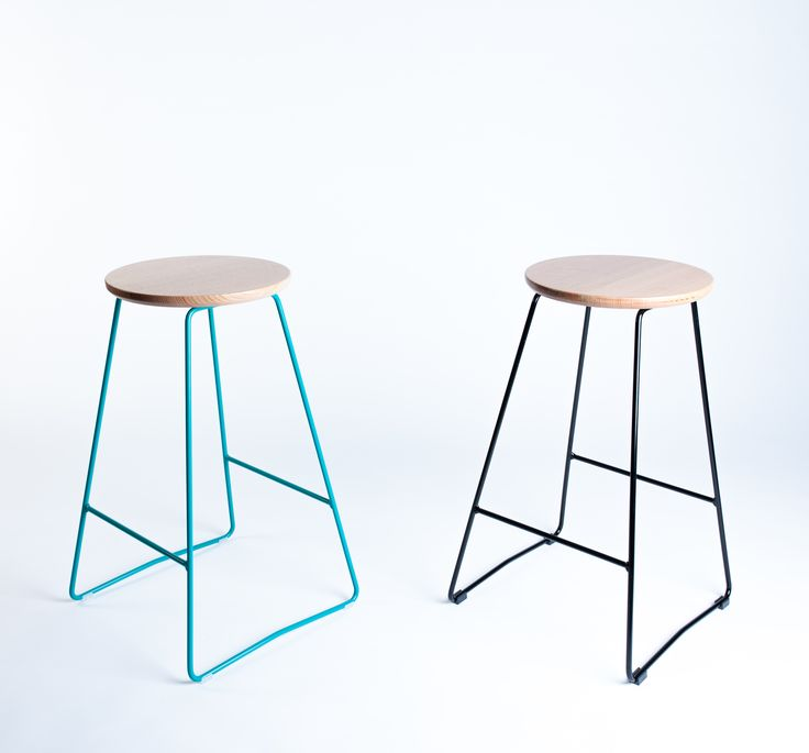 Handsome pair of minimal HS650 stools by Hunt Furniture.  www.huntfurniture.com.au