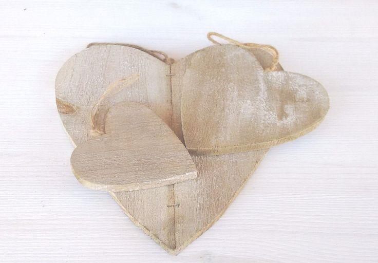 Cuore in legno da appendere decorazione country chic tre misure disponibili | eBay