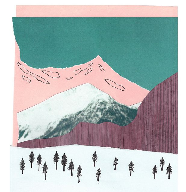Mountains collage