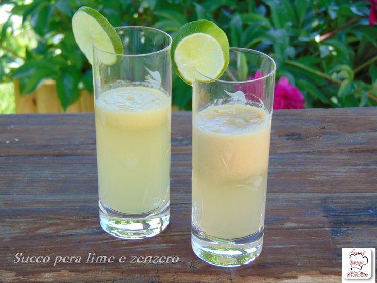 succo pera lime e zenzero centrifugati e benessere