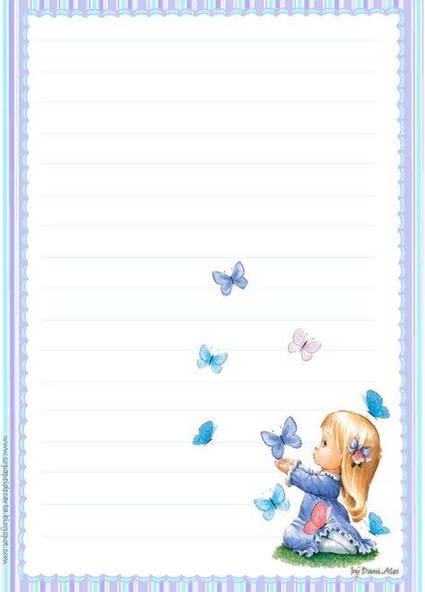 Adoro Escrever Cartas 便箋 テンプレート Sobres De Papelhoja