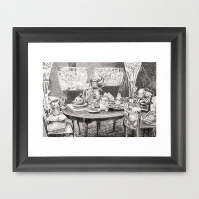 Critter Dining Framed Art Print by Alexandria Gold - $33.00
