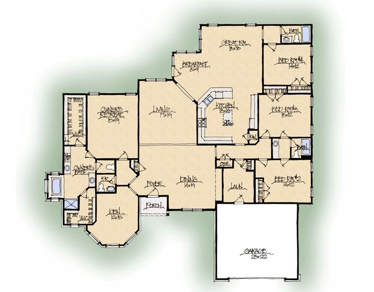 Schumacher homes floorplans chelsea ii series love for Custom dream home floor plans