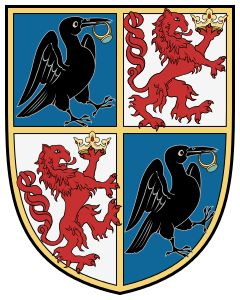 John Hunyadi's extended coat-of-arms (granted to him in 1453 by King Ladislaus V of Hungary)