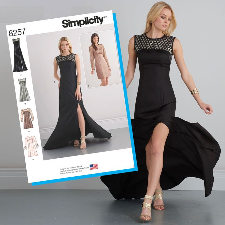 Simplicity Sewing Pattern S8257 Misses' Special Occasion Dresses & gown … WeaverDee.com