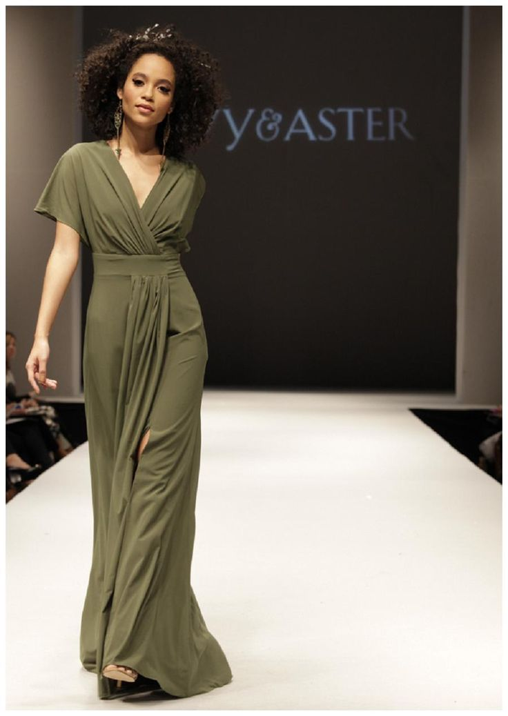 Olive green bridesmaid dress by Ivy & Aster from the Fall 2015 collection.