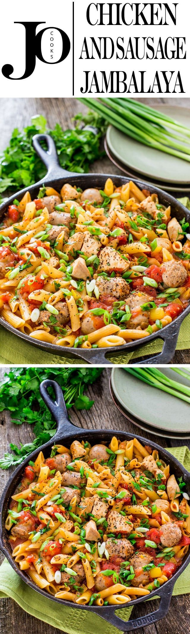 This Chicken and Sausage Jambalaya is my delicious personal take on a classic recipe, with chicken and Italian sausage.