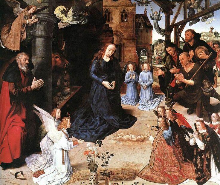 "Hugo van der Goes (ca. 1440–1482), The Portinari Altarpiece (or ""Triptych""), ca. 1475. Oil on wood, 253 x 304 cm, Galleria degli Uffizi, Florence #nyusurvey2"