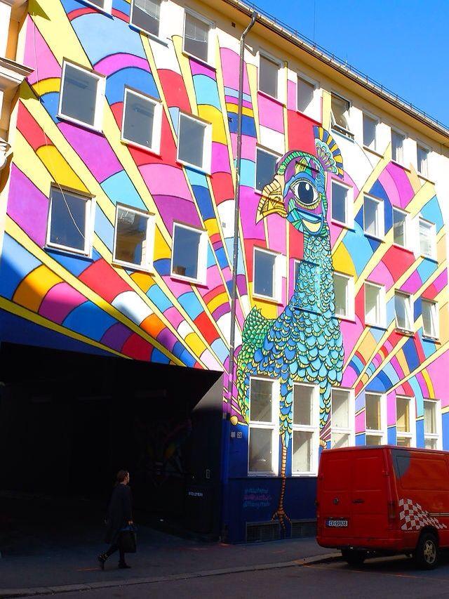 Oslo graffiti street art, grunnerløkka