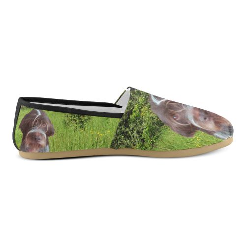 Dog and Flowers Women's Casual Shoes. FREE Shipping. FREE Returns. #artsadd #sneakers #egypt